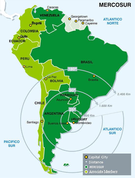Novo mapa do MERCOSUL